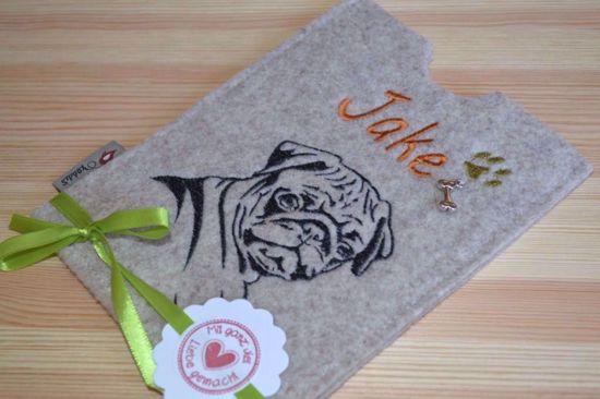 Bild von Heimtierausweishülle Hunderasse personalisiert
