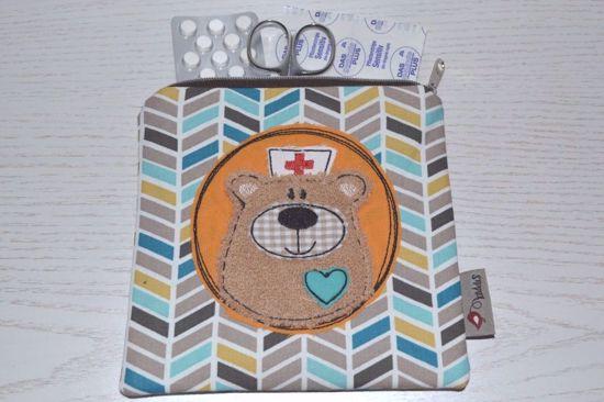 Bild von Mini-Apotheke BärBel ZickZack braun/bunt