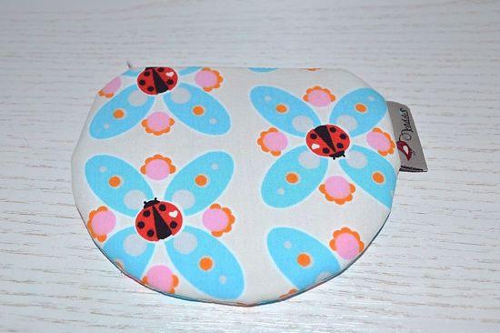 Bild von Minibörse Marienkäfer beige/rosa