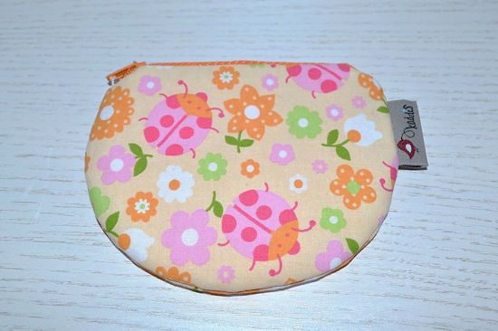 Bild von Minibörse Käferchen rosa/apricot