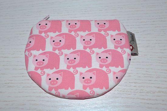 Bild von Minibörse Schweinchen rosa/weiß
