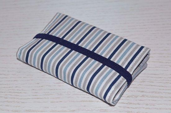 Bild von Globuli-Etui Streifen blau/grau