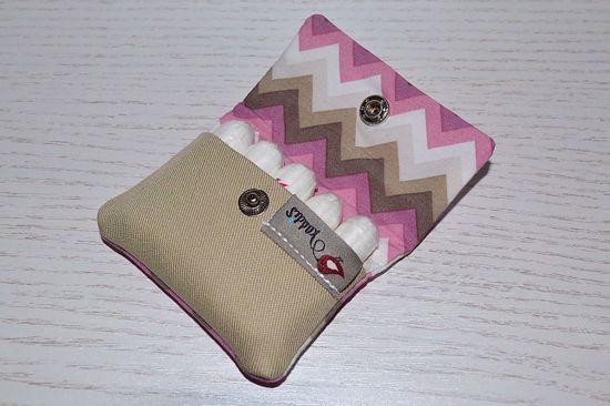 Bild von Hygienetäschchen ZickZack rosa/grau
