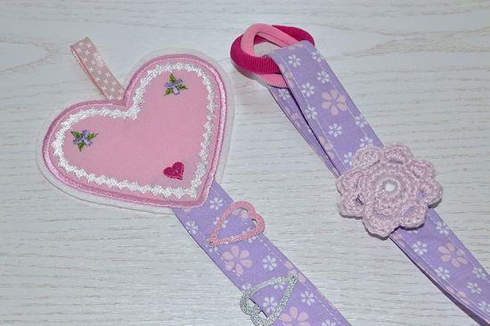 Bild von Haarspangenhalter Herzerl rosa/flieder