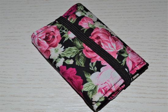Bild von Globuli-Etui Rosen schwarz/pink
