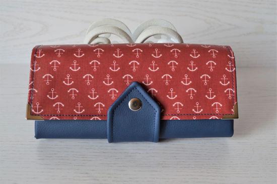 Bild von XL-Geldbörse Anker maritim blau/rot
