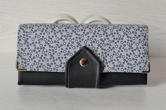Bild von XL-Geldbörse Sternchen grau/schwarz/rosa