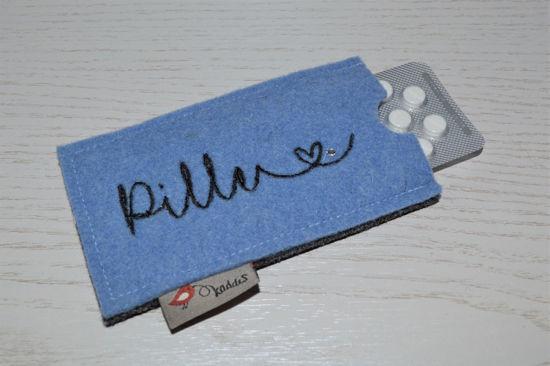 Bild von Tabletten-Etui Pille hellblau/anthrazit
