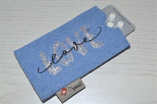 Bild von Tabletten-Etui Love hellblau/anthrazit
