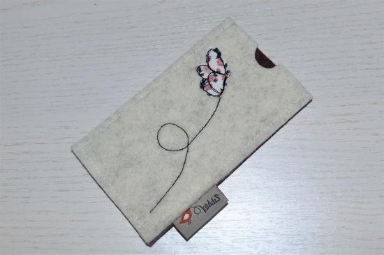 Bild von Tabletten-Etui Schmetterling weiß/anthrazit
