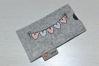 Bild von Tabletten-Etui Wimpel rosa/grau